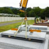 pose des semelles bandeaux socle tombale cimetière marbrerie zamora