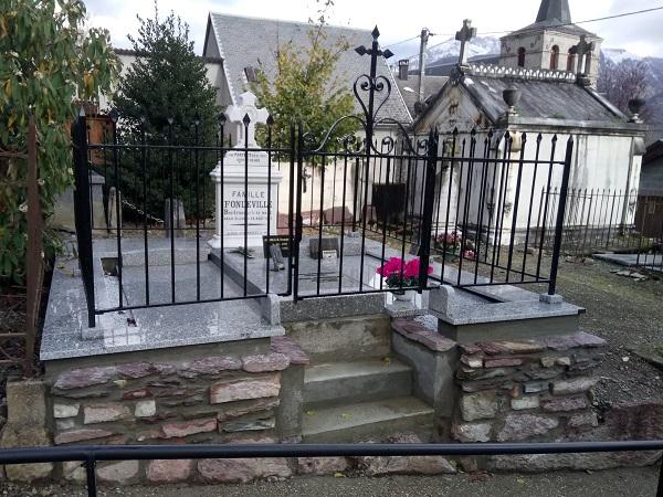 Rénovation ancienne tombe cierp-gaud marbrerie zamora